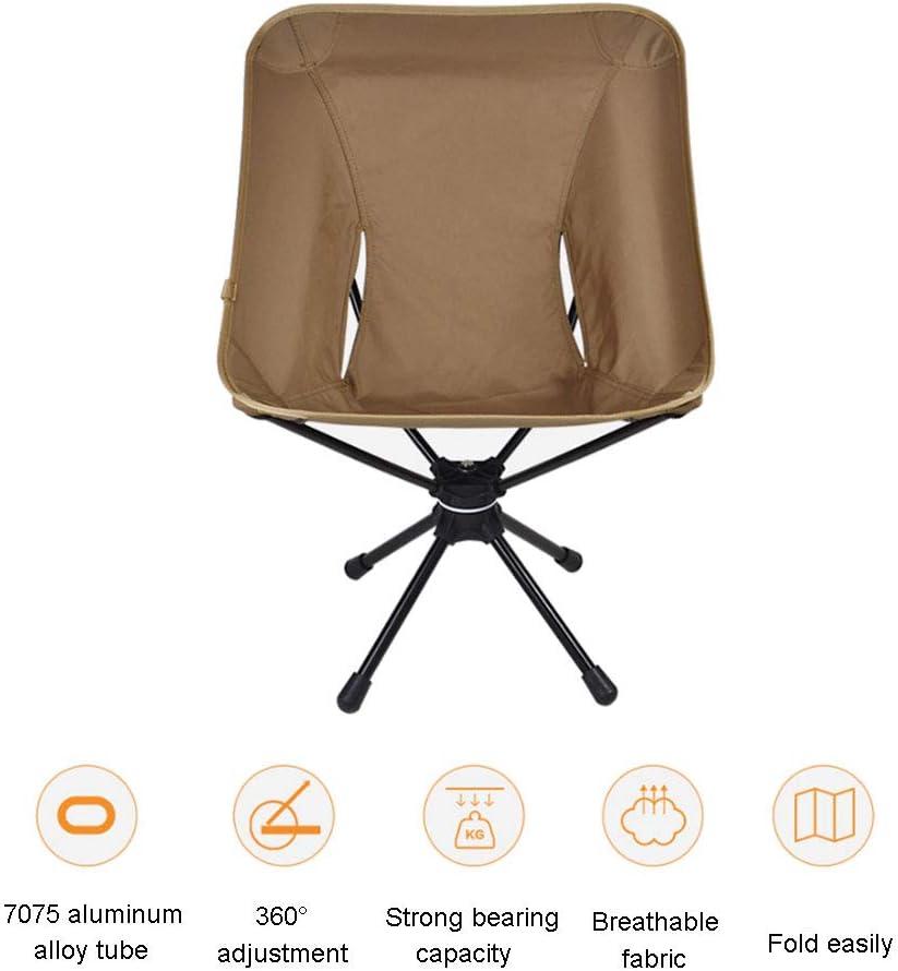 AFTIU Outdoor Camping Hocker, kompakter tragbarer Stuhl mit Tragetasche, um 360 ° drehbarer Sitz für Bergsteiger, Angelgrill und Picknick Blue
