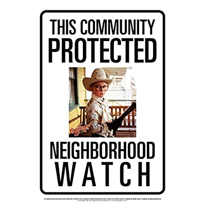 AQUARIUS Community Watch A Christmas Story Ralphie Tin Sign 8x11.5 | NEW COMEDY TRAILERS | ComedyTrailers.com