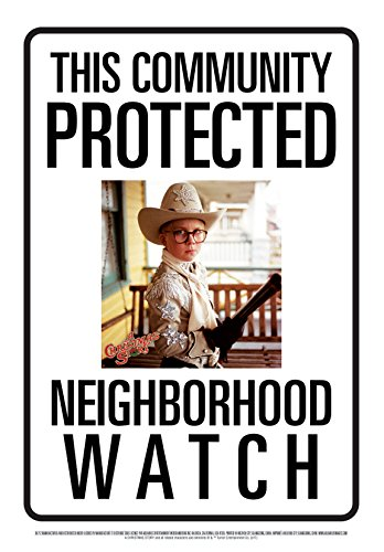 Aquarius Community Watch A Christmas Story Ralphie Tin Sign 8x11.5 | NEW COMEDY TRAILERS | ComedyTrailers.com