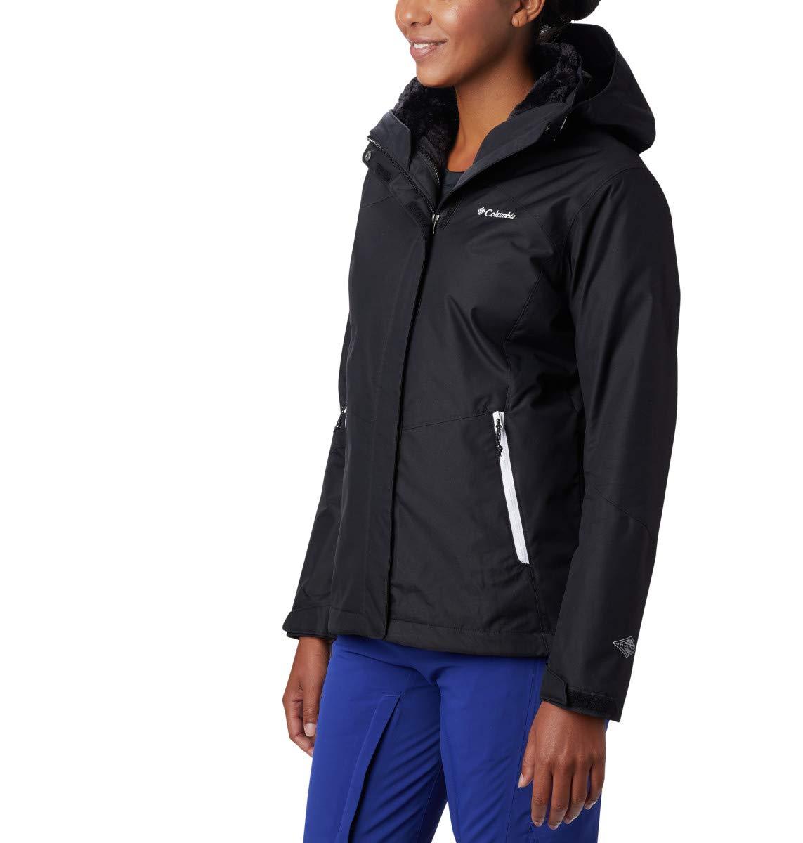 Columbia Women's Bugaboo II Fleece Interchange Jacket, Waterproof and Breathable, Medium, Black by Columbia