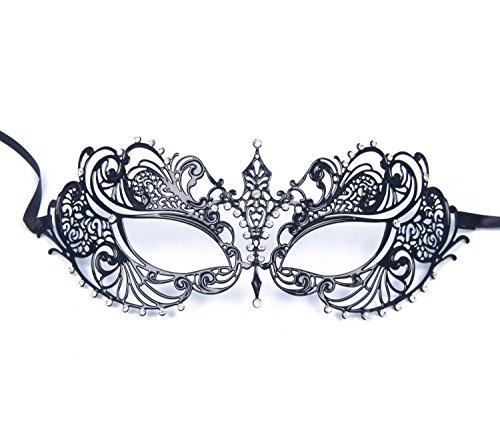 SHINA Luxury Laser Cut Princess Mask with Rhinestone