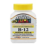 21st Century Century B-12 2500 Mcg Sublingual Tablets 110 ea (Pack of 2) For Sale