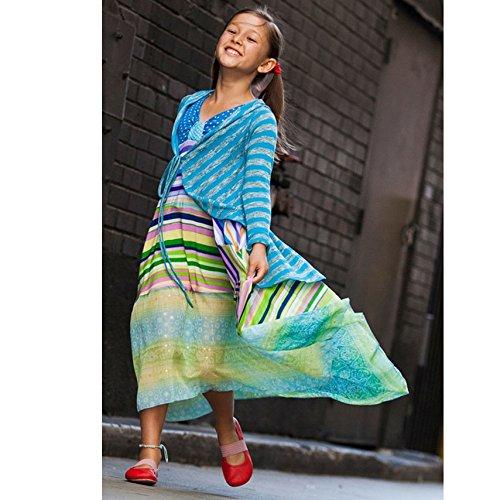 TwirlyGirl Girls Blue Tie Dye Cardigan Lightweight Comfy Spring Summer USA Made
