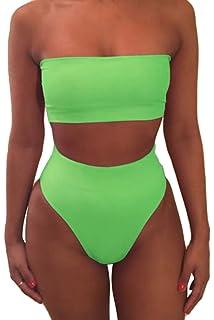 576b64372c Pink Queen Women s Removable Strap Wrap Pad Cheeky High Waist Bikini Set  Swimsuit