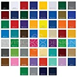 Mega Pack 61 - 6FT Rolls Oracal 651 Glossy Permanent Assortment - 6 Feet x 12 Inch of Every Color!