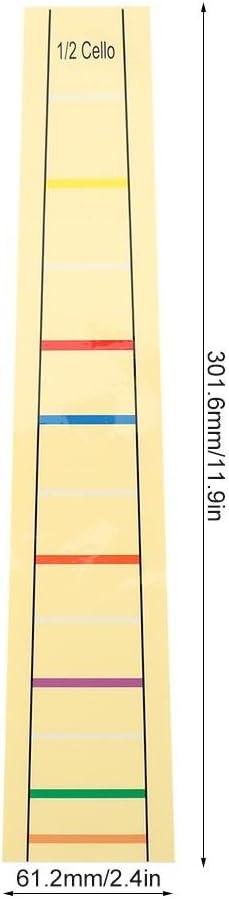 Bnineteenteam Cello Finger Position Marker Fret Finger Marker Cello Fret Board Label Sticker Accessory for Cello Practice