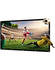 120 inch NIERBO Projector Screen Outdoor Movie Screen for Projection Double Sided for Home Theater Church No Wrinkles with 12 Nails and One Rope
