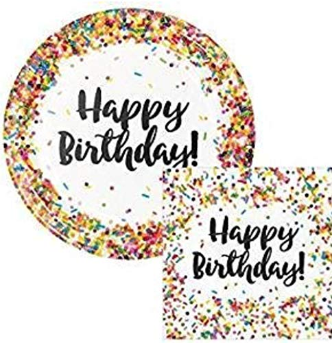 Happy Birthday Party Plates - Creative Converting Sprinkles Birthday 9