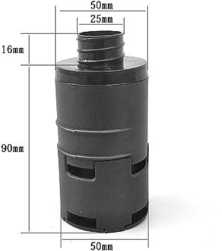 Filtre dadmission dair de Chauffage de stationnement avec Clip pour Chauffage Diesel Eberspacher Webasto Dequate Filtre dadmission dair de Chauffage /à Carburant de 25 mm