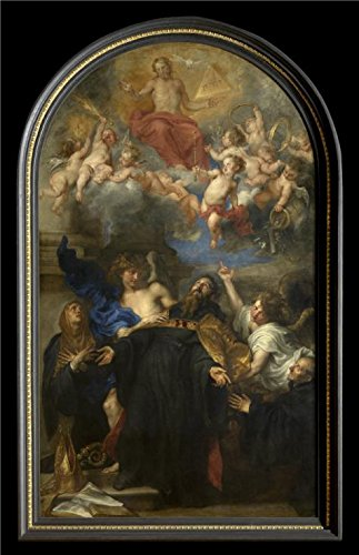 'Saint Augustine In Ecstasy,1628 By Anthony Van Dyck' Oil Painting, 30x46 Inch / 76x118 Cm ,printed On High Quality Polyster Canvas ,this High Definition Art Decorative Canvas Prints Is Perfectly Suitalbe For Gym Gallery Art And Home Gallery Art And Gifts