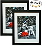 #10: 11x14 Inch Picture Frame Black (2-pack) - Glass Front Cover - Displays an 11 by 14