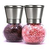 Umiwe Stainless Steel Salt and Pepper Grinder Set Salt Shaker Pepper Mill Kitchen Spice Mill Spice Jar(Set of 2)