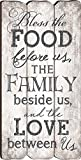 dining room decor P. Graham Dunn Bless The Food, Family and Love Small Fence Post Wood Look Wall Art Plaque