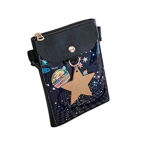 - Outsta Fashion Starry Tote, Women Shoulder Bag Messenger Satchel Crossbody Bag Phone Bag Bucket Bag Classic Basic Casual Daypack Travel (Black)
