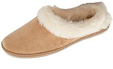4f5d725753c Charter Club Microvelour Clog Memory Foam Slippers (XL) Tan