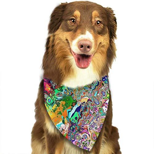 Dog Bandana Psychedelic Tripple Pet Scarf Triangle Bibs