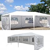 Mefeir 10'x30' Canopy Tent with 5 Removable Sidewalls,Party Wedding Outdoor Patio Carport Gazebo Pavilion Event Canopies