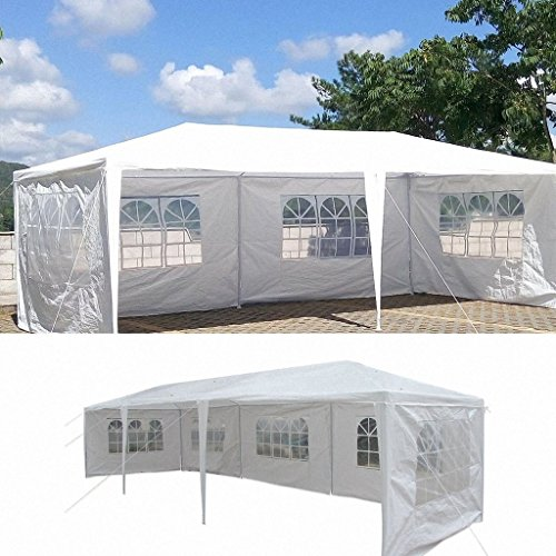 Mefeir 10'x30′ Party Wedding Outdoor Patio Tent Canopy Gazebo Pavilion Events Canopies (5 sidewalls White)