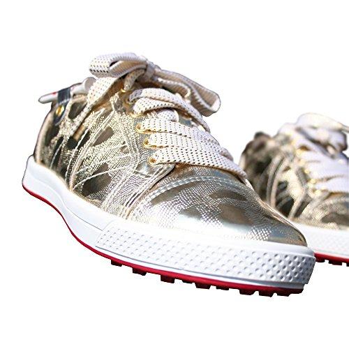 KARAKARA Spike-less Golf Shoes, KR-404, Gold, 230 mm, for Women by KARAKARA GOLF