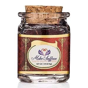 Mehr Saffron, Premium All Red Persian Saffron / 1/9 Oz (3 Gram)