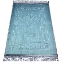 Islamic Prayer Rug Raschel Comfortable Best Quality Muslim Carpet Muslim Mat 31.50in by 47.24in (Greyish-green 4)