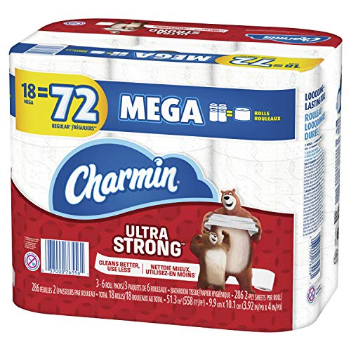 🥇 Charmin Ultra Strong Toilet Paper 18 Mega Roll
