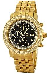 "JBW Men's JB-6114-270-C ""Melbourne"" Chronograph 2.70 Carat Black Dial Diamond Watch"