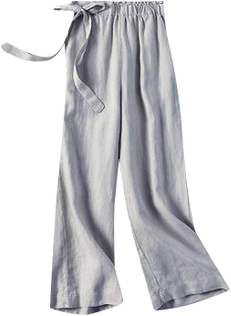 cinnamou Pantalones Mujer, Pantalones De Lino Y Algodon Talla ...