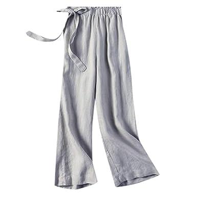 cinnamou Pantalones Mujer, Pantalones De Lino Y Algodon ...