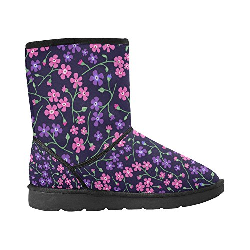Snow Print Boots Boots Size Pattern 5 On Snow 12 Flowers Classic InterestPrint Womens Color1 5 Colorfuler Wqc1tzR0w