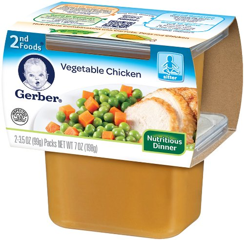 Gerber 2nd Foods Vegetable And Chicken 7 Ounce Pack Of 8 Amazon