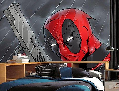 Dizzy Photo Wallpaper Wall Mural Woven Self-Adhesive Art Deadpool Marvel Movie M17, Non Woven 4 Stripes]()