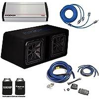 Kicker 44DL7S122 Dual 12 L7 Box with 2400 Watt Kicker KX Amplifier & Wiring Kit