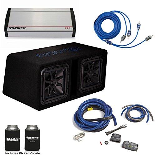 """Kicker 44DL7S122 Dual 12"""" L7 Box with 2400 Watt Kicker KX Amplifier & Wiring Kit"""