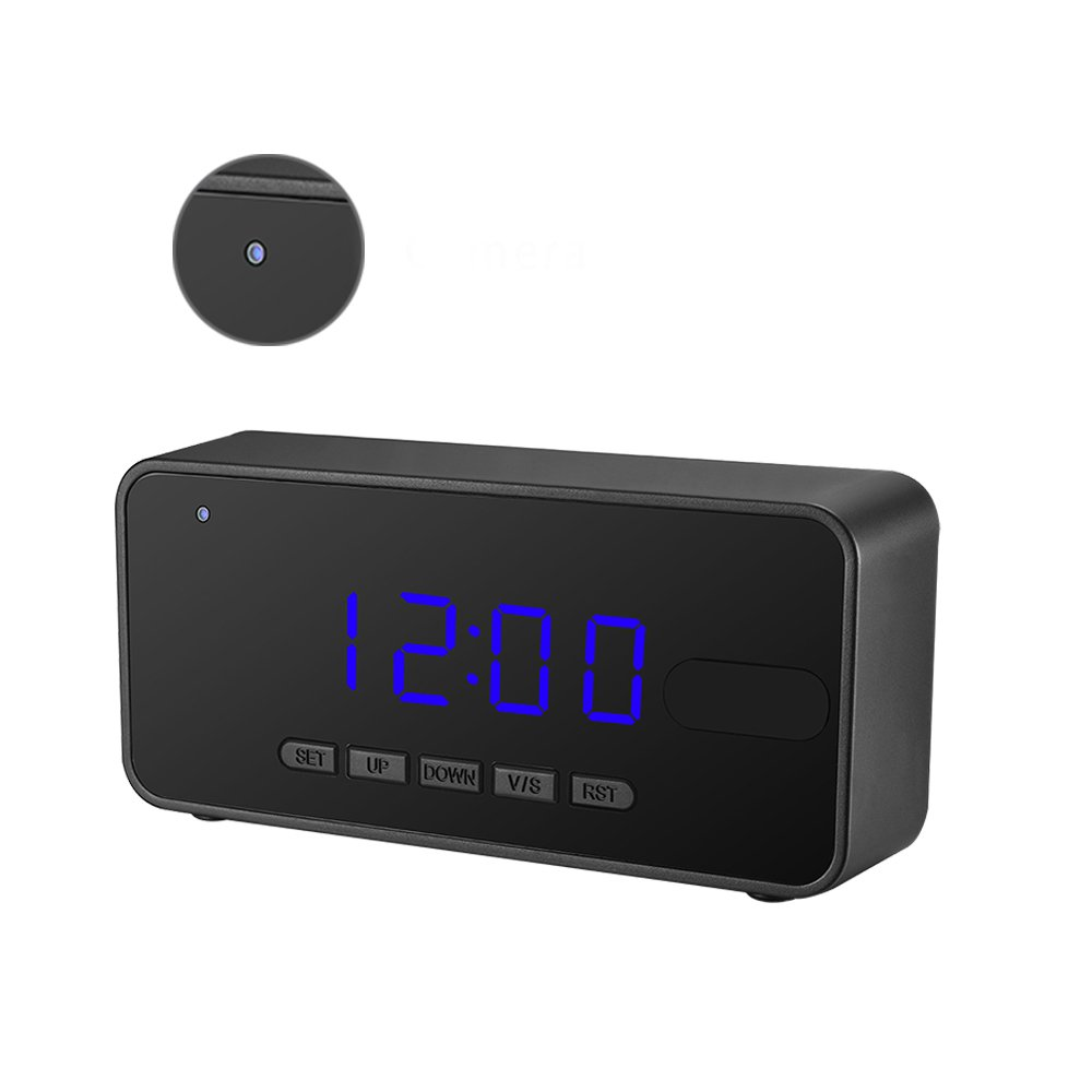 Spy Hidden Camera with PIR Motion Detection, Mofek HD 1080P Night Vision Home Security Camera Nanny Cam Alarm Clock with 16GB Memory Card