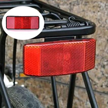 1x Bicycle Bike  Safety Caution Warning Reflector Disc Rear Pannier Rack .