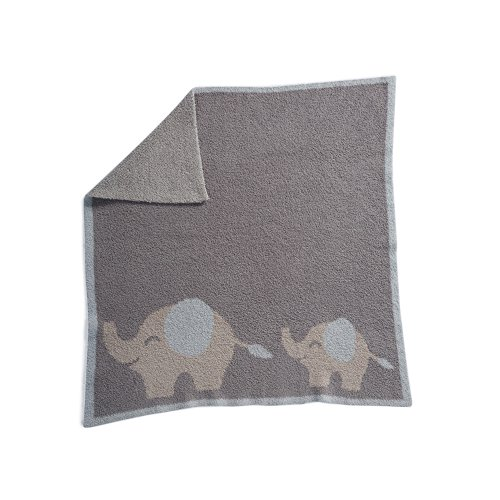 Barefoot Dreams Cozychic Follow Me Blanket - Elephant, Blue