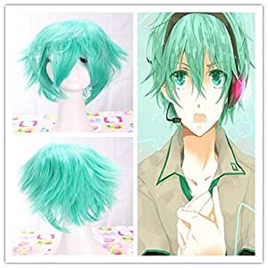 Vocaloid Mikuo Short Straight Green Party Costume Cosplay Wig