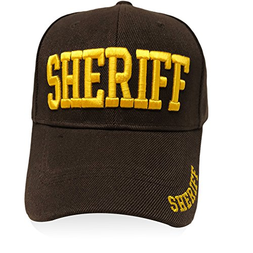GREAT CAP Classic Law Enforcement Hat - Size Adjustable Embroidered Design Baseball Headwear for Daily Occasion - Sheriff Brown
