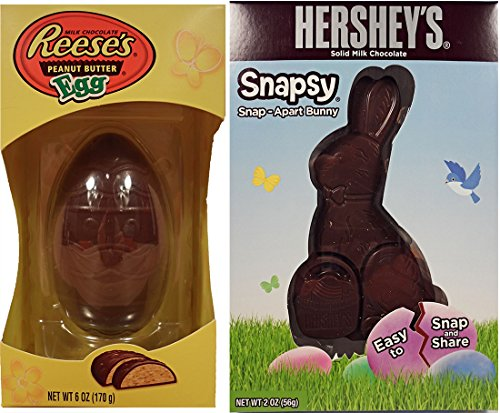 Reeses Peanut Butter Egg with Hersheys Snapsy Easter Bunny - Reese Girl