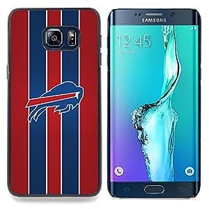 """Qstar Arte & diseño plástico duro Fundas Cover Cubre Hard Case Cover para Samsung Galaxy S6 Edge Plus / S6 Edge+ G928 (Ejecución de Buffalo"""")"""
