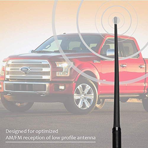 VOFONO Replacement Antenna Compatible with Ford Mustang 2010-2014 3.5 inches Premium Metal Antenna Designed for Optimized FM//AM Reception