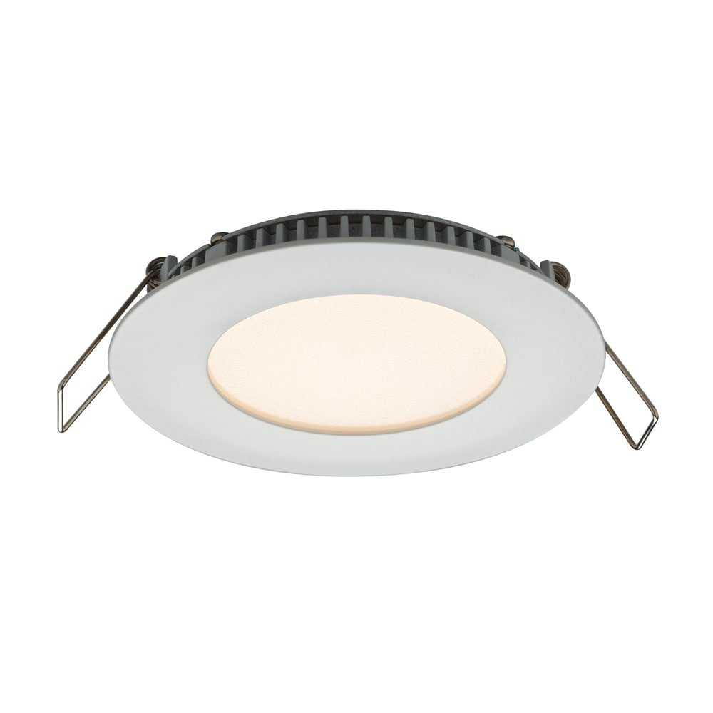 Dals Lighting USA DALS White Aluminum 3-inch Round 6W LED Recessed Panel Ceiling Light 3'' 6W