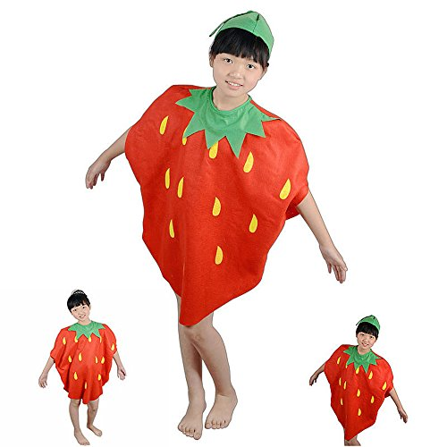 [QBSM Fruit Suit Lightweight Halloween Banana Costumes Funny Suit for Child Kids (Strawberry)] (Beach Boys Halloween Costume)