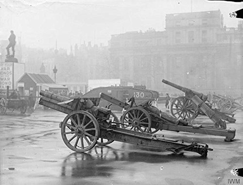 (Home Comforts Laminated Poster The War Bonds Appeal, 1914-1918 Tank and war Trophies on View in Trafalgar Square as Part of The war Vivid Imagery Poster Print 24 x 36)