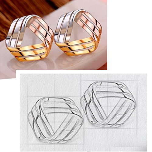 925 Sterling Silver Love Knot Earrings Tricolor 3-Tone Stud Fashion Jewelry for Teens Girls Women by ZLXPRO (Image #3)