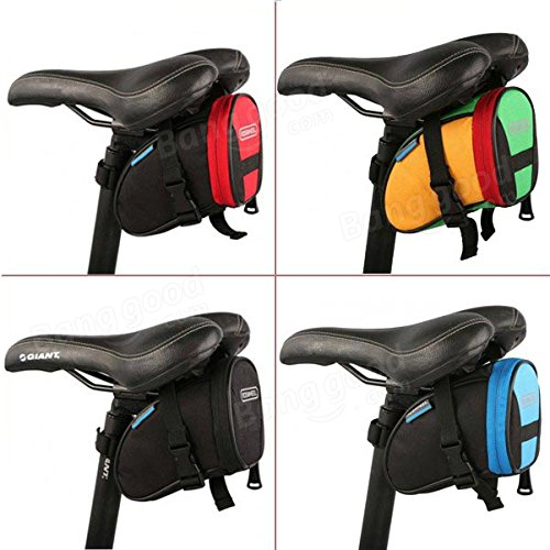 Cycling Bike Bicycle Rear Seat Saddle 1L Tail Bag Quick Release ( Colorful ) by Freelance Shop SportingGoods (Image #1)