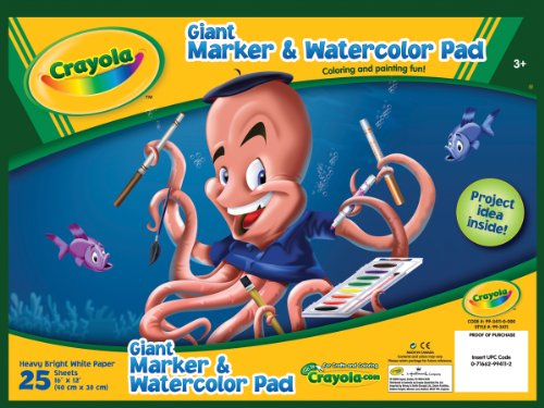 Crayola Giant Marker Watercolor Pad