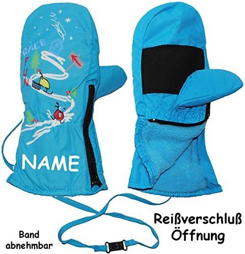 Gr/ö/ße: 5 bis 6 Jahre alles-meine.de GmbH Handschuh mit langem Schaft F.. wasserdicht extra lang neon gr/ün Thermo gef/üttert Thermohandschuh leicht anzuziehen Rei/ßverschlu/ß