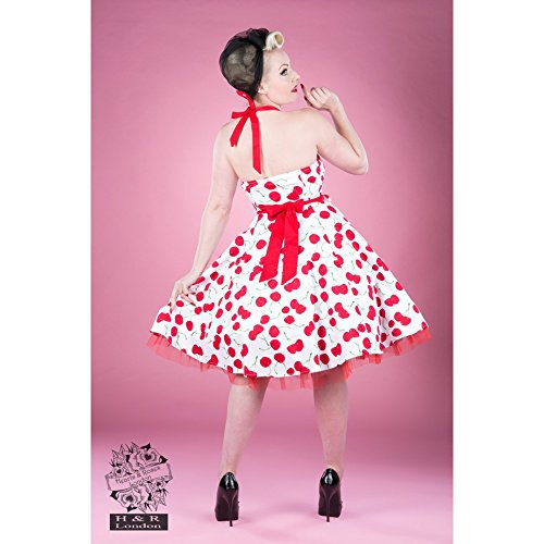 H&R London - Vestido - para mujer blanco